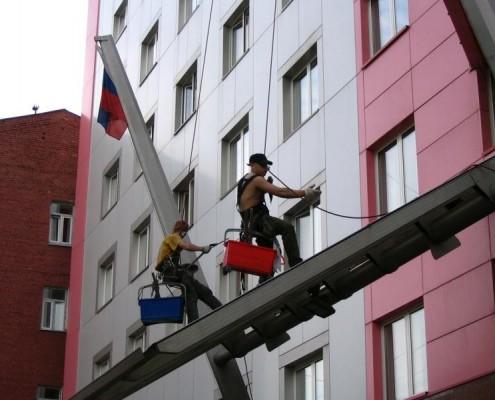 Repair-building works